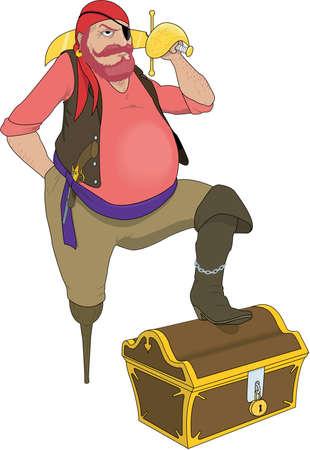 Pirate Illustration Illusztráció