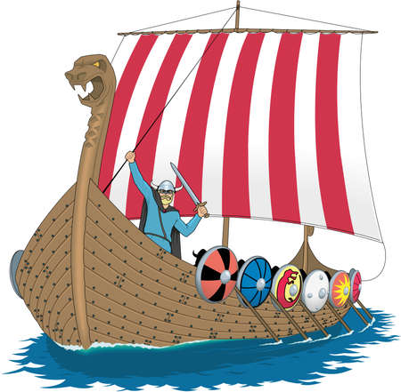 バイキング船の図