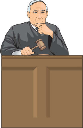 Judge Illustration Stok Fotoğraf - 84065140