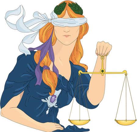 Justitie - Art Nouveau-illustratie