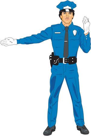 Traffic Control Illustration Illusztráció