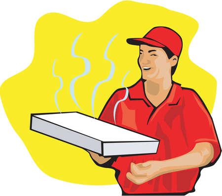 Pizza Delivery Illustration Çizim