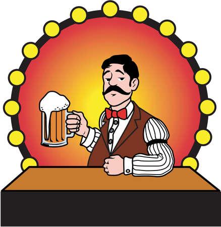 Beertender Illustration Фото со стока - 84085730