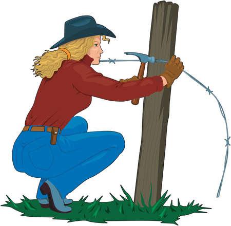 Fixing fence illustration.
