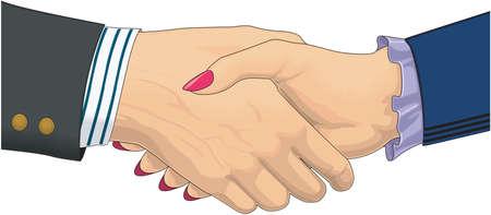 Handshake Illustratie Stock Illustratie