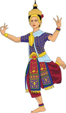 Thai Dancer Illustration