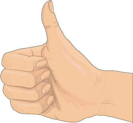 Thumbs up sign illustration.