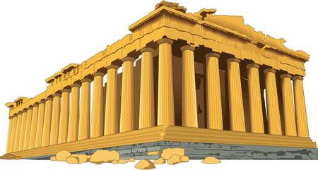 アクロポリスの図  イラスト・ベクター素材