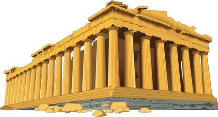 Acropolis Illustration Vettoriali