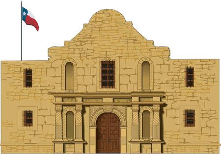 Alamo Illustration Stock Illustratie