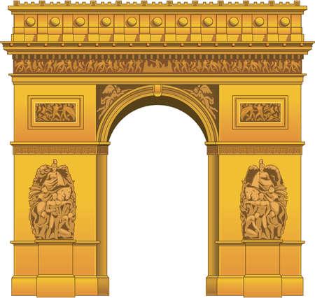 Arc de triomphe illustration.