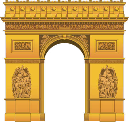Arc de triomphe illustration.
