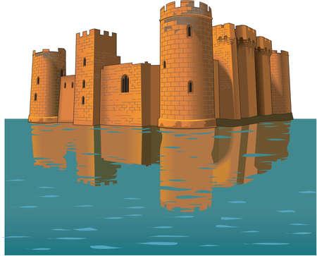Illustration du château de Bodiam Vecteurs