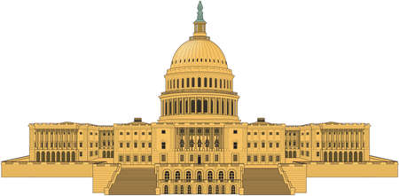 U.S. capitol building illustration. 向量圖像