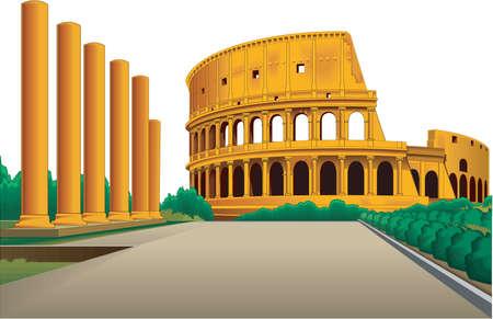 Colosseum illustration. 向量圖像