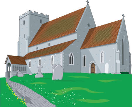 Countryside Church Illustration