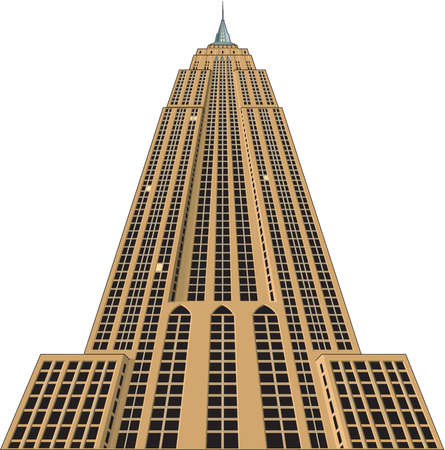 Empire State Building Illustration Vettoriali