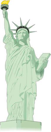 Vrijheidsbeeld Illustratie Stock Illustratie