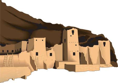 Mesa Verde Illustratie