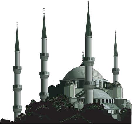ブルーモスクの図  イラスト・ベクター素材