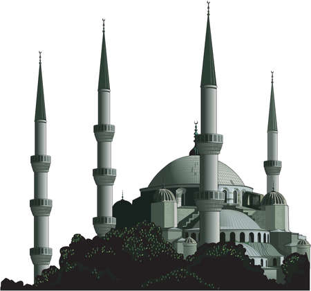Blue Mosque Illustration
