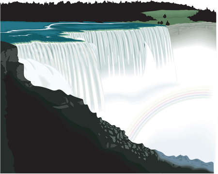 Niagara Falls Illustration