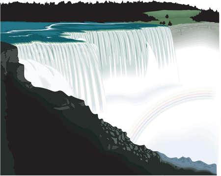 Niagara Falls Illustration
