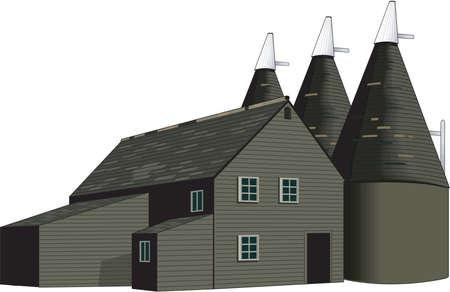 Oast House Illustration
