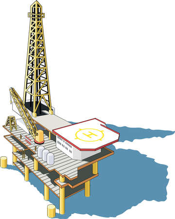Oil Platform Illustration
