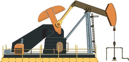 Oil Well Illustration