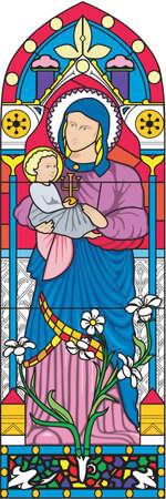 Vitrail Illustration Banque d'images - 84114783