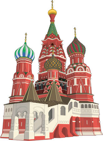 Saint Basils Cathedral Illustration