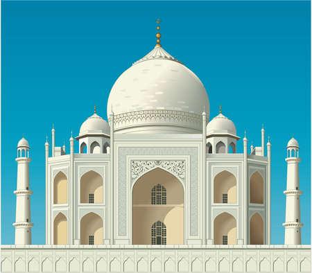 Taj Mahal Illustration Illustration