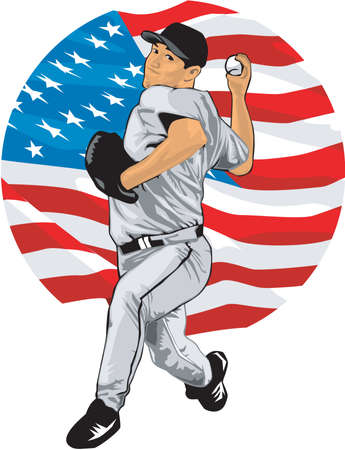 Baseball Pitcher Illustration Illustration