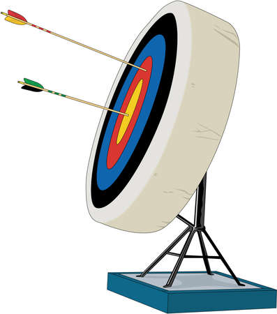 Boogschieten Illustratie Stock Illustratie