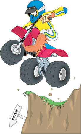 ATV Racer Cartoon