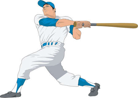 Baseball Batter Illustration Illustration