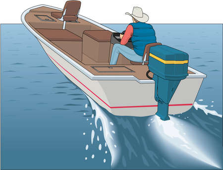 Bass Boat Illustration