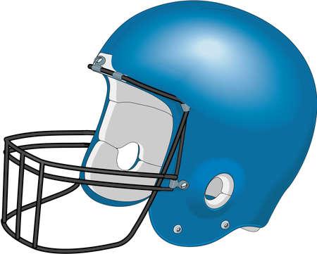 Football Helmet Illustration Ilustração