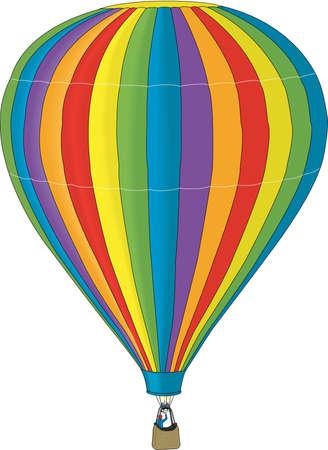 Hete lucht ballon illustratie