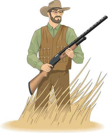 Hunter Illustratie Stock Illustratie