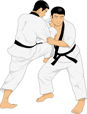 Judo Illustration Ilustração