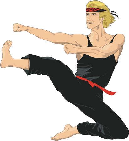 Karate Illustration Ilustração