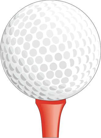 Golfbal op T-shirtillustratie