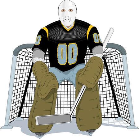 Hockey Player Illustration Illustration