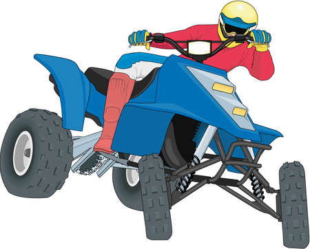 Quad Racer Illustration