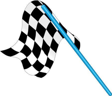 Checkered Flag Illustration Ilustração