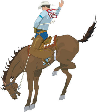 Bucking Bronco Illustration. Vectores
