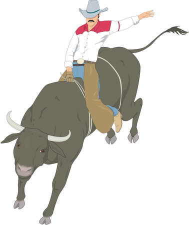 Bull Riding Illustration