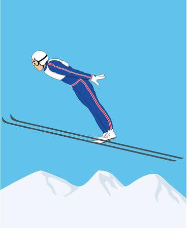 스키 점퍼 그림입니다.